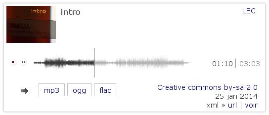 plaver HTML5 avec waveform
