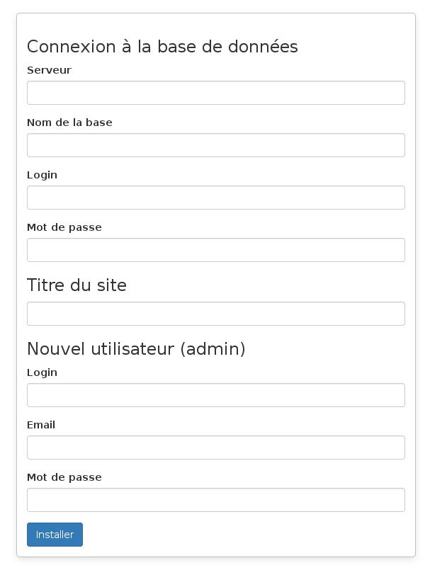 page d'installation de SourceML